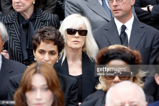 Betty Catroux attend Yves Saint Laurent's Funeral Service on June 5 2008 at Eglise SaintRoch in Paris FranceThe designer Yves Saint Laurent who...