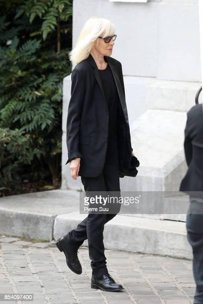 Betty Catroux attends Liliane Bettencourt's funeral at Eglise Saint Pierre on September 26 2017 in NeuillysurSeine France