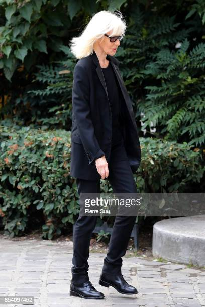 Betty Catroux attends Liliane Bettencourt's funeral at Eglise Saint Pierre on September 26, 2017 in Neuilly-sur-Seine, France.