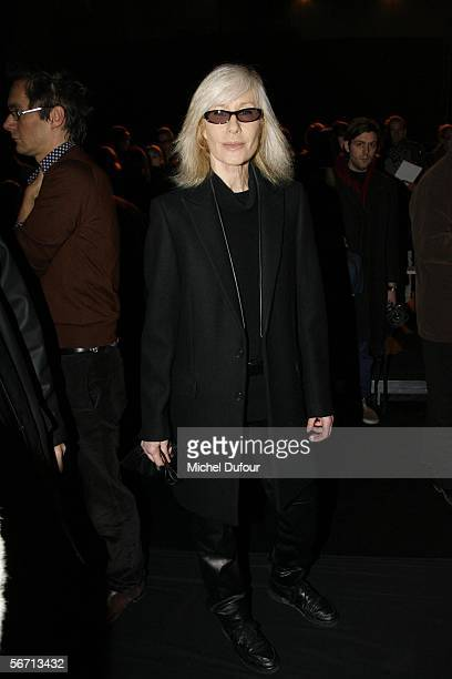 Betty Catroux attends the Dior men's show during Paris Men's Fashion Week Autumn/Winter 20062007 on January 27 2006 in Paris France