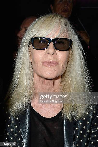 Betty Catroux attends the Saint Laurent show as part of the Paris Fashion Week Womenswear Spring/Summer 2014 on September 30 2013 in Paris France