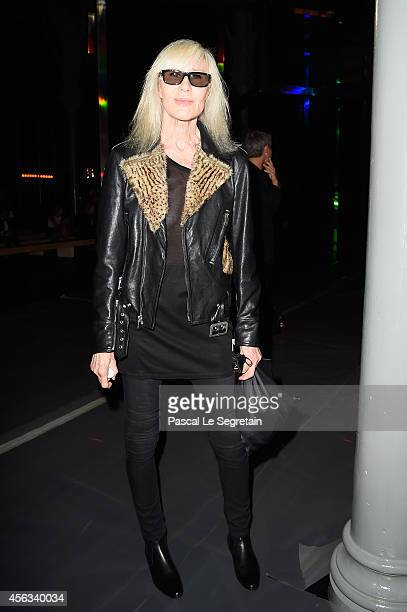 Betty Catroux attends the Saint Laurent show as part of the Paris Fashion Week Womenswear Spring/Summer 2015 on September 29 2014 in Paris France