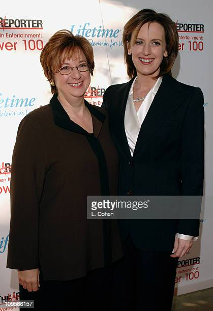 Betty Cohen President and CEO of Lifetime Television Network and Anne Sweeney cochairman of Media Networks for the Walt Disney Company