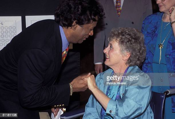 Betty Cuthbert and Kamahl at The Betty Cuthbert Testimonial Lunch in Sydney