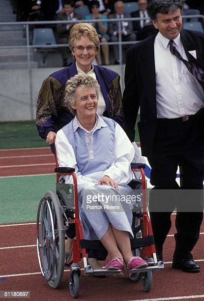 Betty Cuthbert at the International Athletics Centre in Sydney