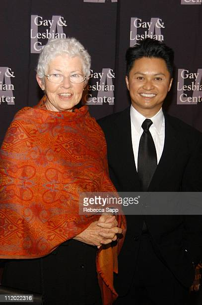 Betty DeGeneres and Alec Mapa during L.A. Gay and Lesbian Center's 33rd Anniversary Gala at The Westin Century Plaza Hotel in Century City,...