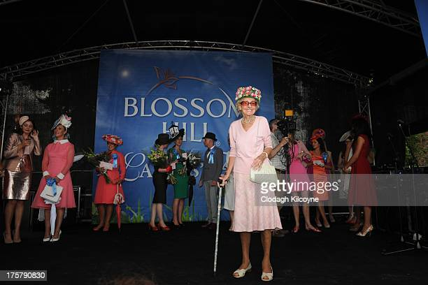 Betty Edwards aged 94 is shortlisted for Best Dressed Lady on Ladies Day the RDS Dublin Horse show at Royal Dublin Society on August 8 2013 in Dublin...