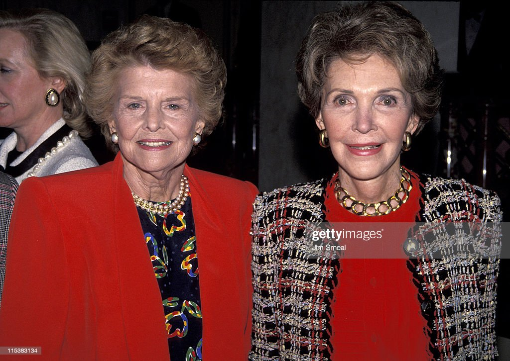 Betty Ford and Nancy Reagan during Fashion Show to Benefit Betty Ford Children's Institute International at Beverly Wilshire Hotel in Beverly Hills, California, United States.