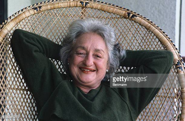 Betty Friedan a leading feminist activist and author of The Feminine Mystique during an interview