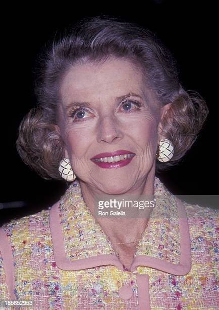 Betty Furness attends 35th Annual New York Emmy Awards on March 26, 1992 at the Hudson Theater in New York City.