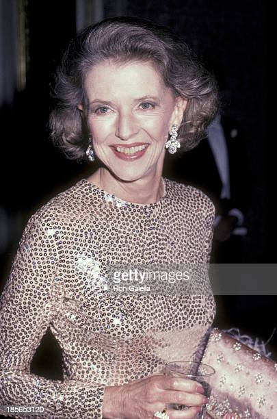 Betty Furness attends Lenox Hill Hospital Benefit Dinner Gala on September 14, 1983 at the Waldorf Hotel in New York City.