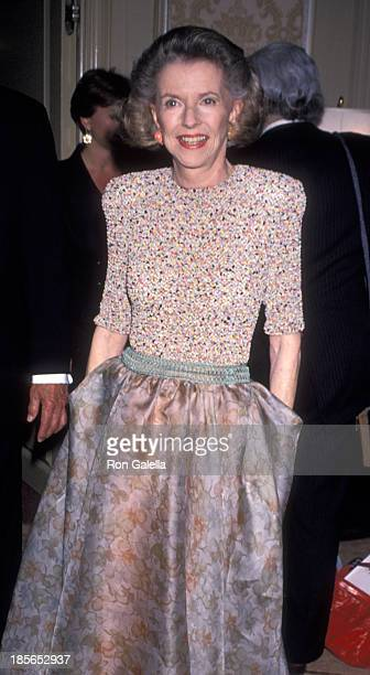 Betty Furness attends Museum of Television and Radio Gala on June 18, 1990 at the Pierre Hotel in New York City.