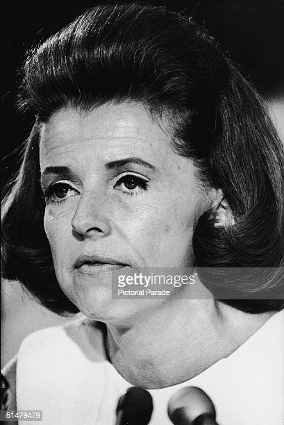 Betty Furness testifies before Congress in her capacity as Special Assistant to the U.S. President for Consumer Affairs, Washington DC, March 19,...