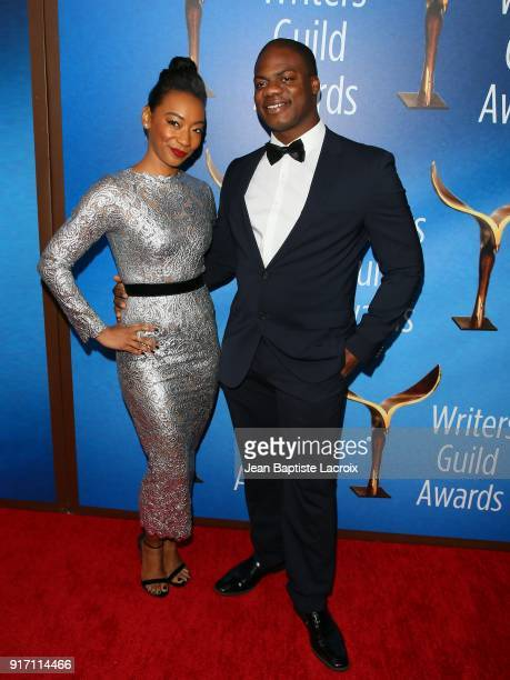 Betty Gabriel and Marcus Henderson attend the 2018 Writers Guild Awards L.A. Ceremony on February 11, 2018 in Beverly Hills, California.