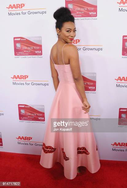 Betty Gabriel attends AARP's 17th Annual Movies For Grownups Awards at the Beverly Wilshire Four Seasons Hotel on February 5, 2018 in Beverly Hills,...