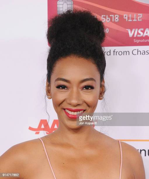 Betty Gabriel attends AARP's 17th Annual Movies For Grownups Awards at the Beverly Wilshire Four Seasons Hotel on February 5 2018 in Beverly Hills...