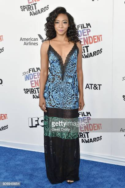 Betty Gabriel attends the 2018 Film Independent Spirit Awards - Arrivals on March 3, 2018 in Santa Monica, California.