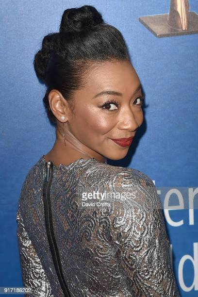 Betty Gabriel attends the 2018 Writers Guild Awards LA Ceremony at The Beverly Hilton Hotel on February 11 2018 in Beverly Hills California