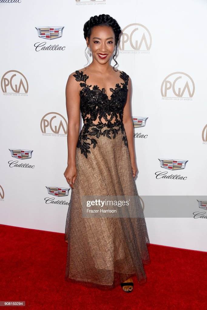 Betty Gabriel attends the 29th Annual Producers Guild Awards at The Beverly Hilton Hotel on January 20, 2018 in Beverly Hills, California.