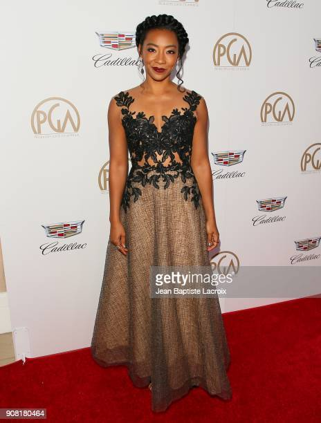 Betty Gabriel attends the 29th Annual Producers Guild Awards at The Beverly Hilton Hotel on January 20 2018 in Beverly Hills California