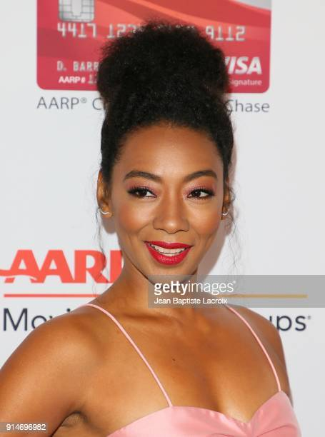 Betty Gabriel attends the AARP's 17th Annual Movies For Grownups Awards on February 05 2018 in Beverly Hills California