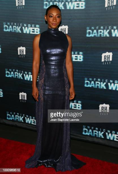 Betty Gabriel attends the premiere of Blumhouse Productions and Universal Pictures' 'Unfriended Dark Web' at LA LIVE on July 17 2018 in Los Angeles...