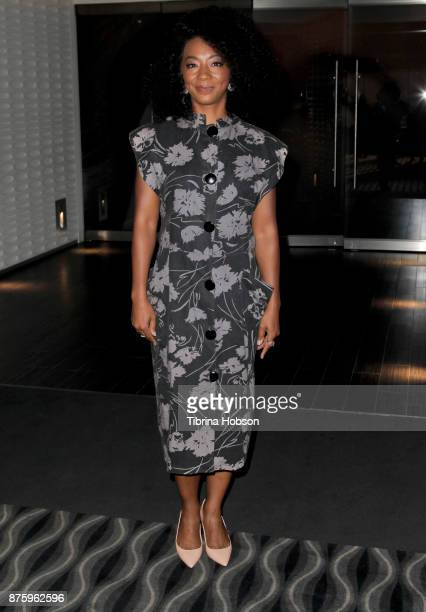 Betty Gabriel attends the SAGAFTRA Foundations conversations and screening of 'Get Out' at Pacific Design Center on November 17 2017 in West...