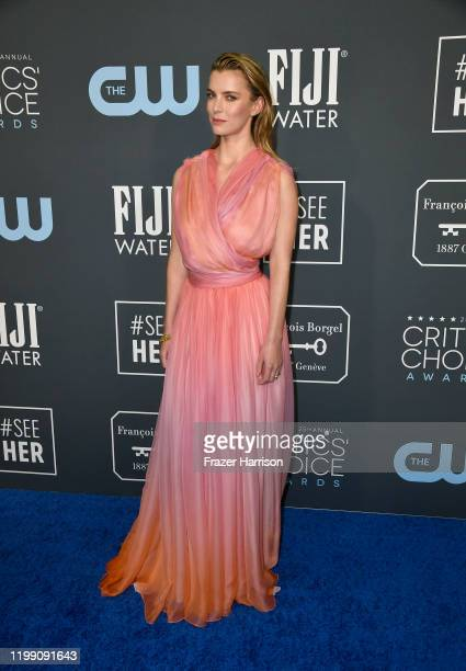 Betty Gilpin attends the 25th Annual Critics' Choice Awards at Barker Hangar on January 12 2020 in Santa Monica California