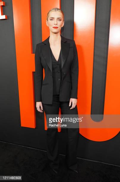 "Betty Gilpin attends the premiere of Universal Pictures' ""The Hunt"" at ArcLight Hollywood on March 09, 2020 in Hollywood, California."
