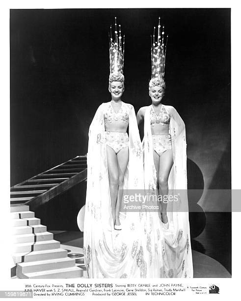 Betty Grable and June Haver in a scene from the film 'The Dolly Sisters' 1945