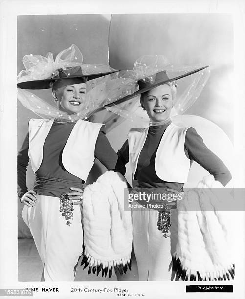 Betty Grable and June Haver in publicity portrait for the film 'The Dolly Sisters' 1945