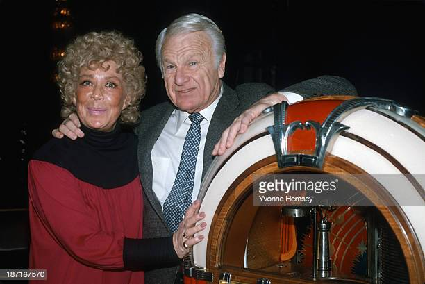 Betty Hutton and Eddie Albert are photographed January 13 1983 in New York City at a rehearsal for Jukebox Saturday Night a PBS concert series...