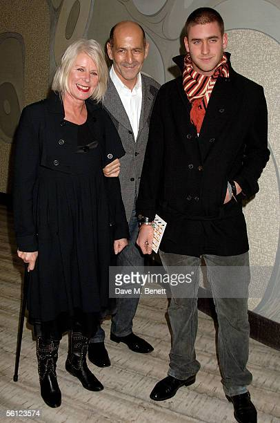 Betty Jackson with partner and son Oliver Jackson attend The Vogue Motorola  List launch party launching 64a0553781