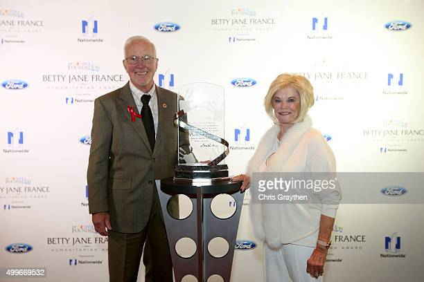 Betty Jane France poses with Carl Flatley of Dunedin Forida who founded the Sepsis Alliance during the Betty Jane France Humanitarian Award Reception...