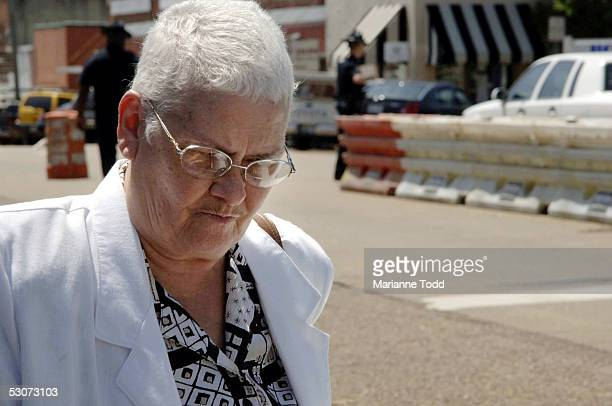 Betty Joe Killen the wife of accused murder Edgar Ray Killen leaves the Neshoba County Courthouse after opening arguments on June 15 2005 in...