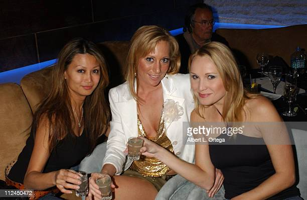 Betty Lee Melissa 'Mojo' Hunter and Alana Curry during Melissa 'Mojo' Hunter's Birthday Celebration February 21 2006 at Aqua Restaurant Nightclub in...