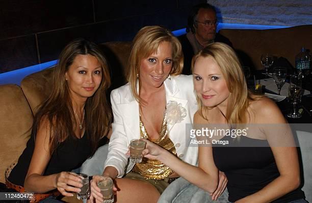 Betty Lee Melissa Mojo Hunter and Alana Curry during Melissa Mojo Hunter's Birthday Celebration February 21 2006 at Aqua Restaurant Nightclub in...