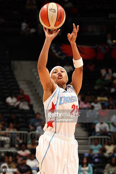 Betty Lennox of the Atlanta Dream shoots against the Chicago Sky during the WNBA game on June 6 2008 at Philips Arena in Atlanta Georgia The Sky won...