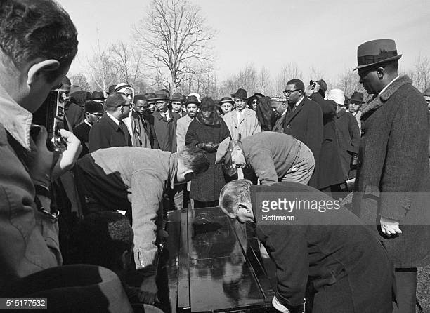 Betty Little Shabazz At Malcom X Funeral