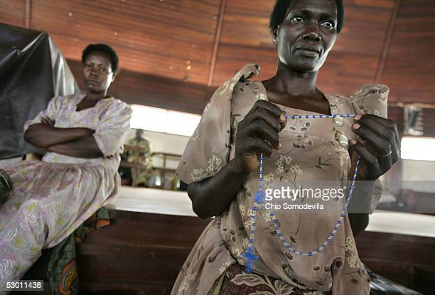Betty Nambalirwa prays the rosary at the Catholic Basilica Church of the Uganda Martyrs a day before the Ugandan national Martyrs Day holiday on June...