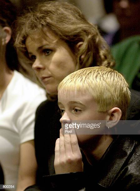 Betty Schmitt aunt of Rap star Eminem and Joshua Schmitt Mather's cousin listen in Macomb County Court during Eminem's sentencing on concealed...