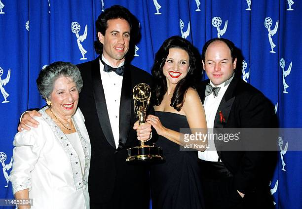 Betty Seinfeld Jerry Seinfeld Julia LouisDreyfus and Jason Alexander