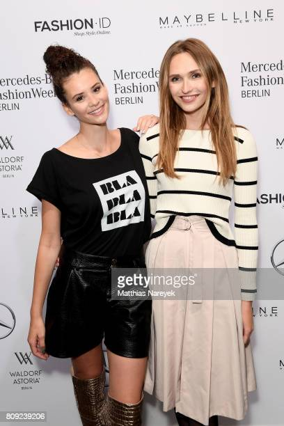 Betty Taube and Anne Wilken attend the Rebekka Ruetz show during the MercedesBenz Fashion Week Berlin Spring/Summer 2018 at Kaufhaus Jandorf on July...