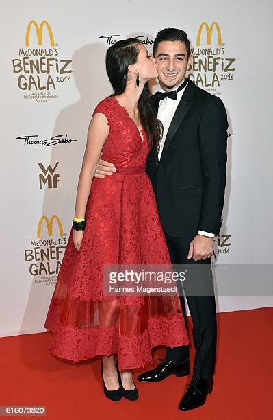 Betty Taube and her boyfriend Koray Guenter during the McDonald's charity gala at Hotel Bayerischer Hof on October 21 2016 in Munich Germany