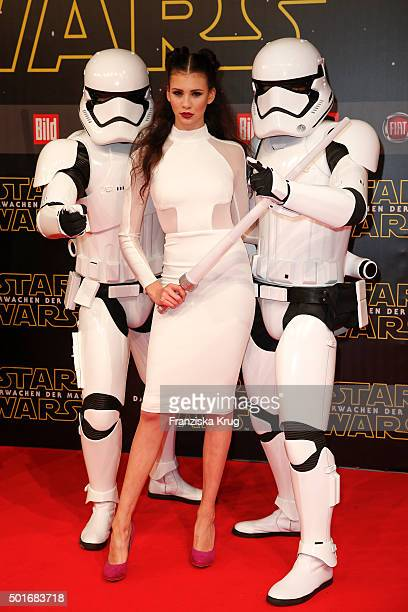 Betty Taube attends the German premiere for the film 'Star Wars The Force Awakens' at Zoo Palast on December 16 2015 in Berlin Germany