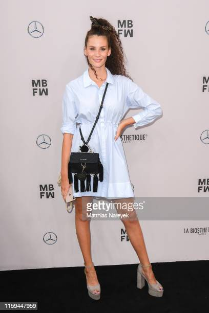 Betty Taube attends the Guido Maria Kretschmer show during the Berlin Fashion Week Spring/Summer 2020 at ewerk on July 01 2019 in Berlin Germany