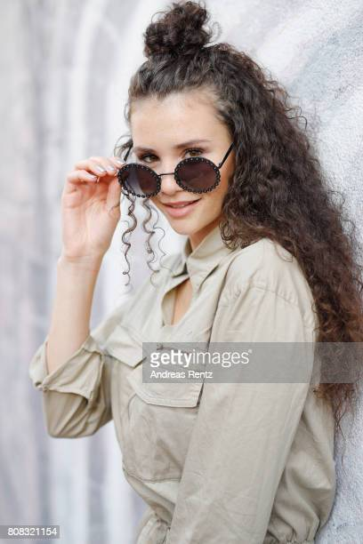 Betty Taube attends the Riani Fashion Show Spring/Summer 2018 at Umspannwerk Kreuzberg on July 4 2017 in Berlin Germany