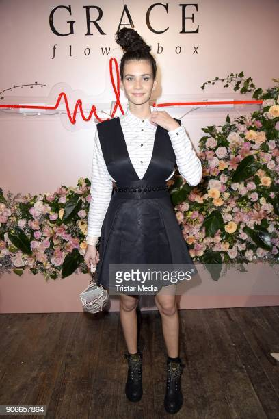 Betty Taube during the Marina Hoermanseder Defile during 'Der Berliner Salon' AW 18/19 at Von Greifswald on January 18 2018 in Berlin Germany