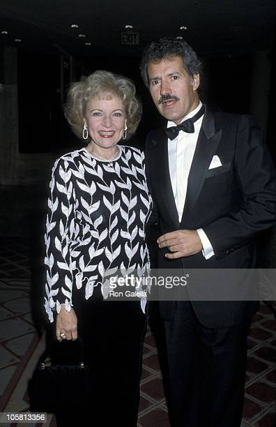 Betty White and Alex Trebek during Jewish National Funds Annual Tree of Life Awards at Sheraton Premiere Hotel in Los Angeles California United States
