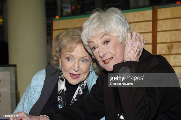 Betty White and Bea Arthur during The Golden Girls Season 3 Signing at Barnes and Noble November 222005 at Barnes and Noble Chelsea in New York City...